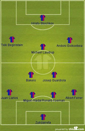 barcelona dream team formation